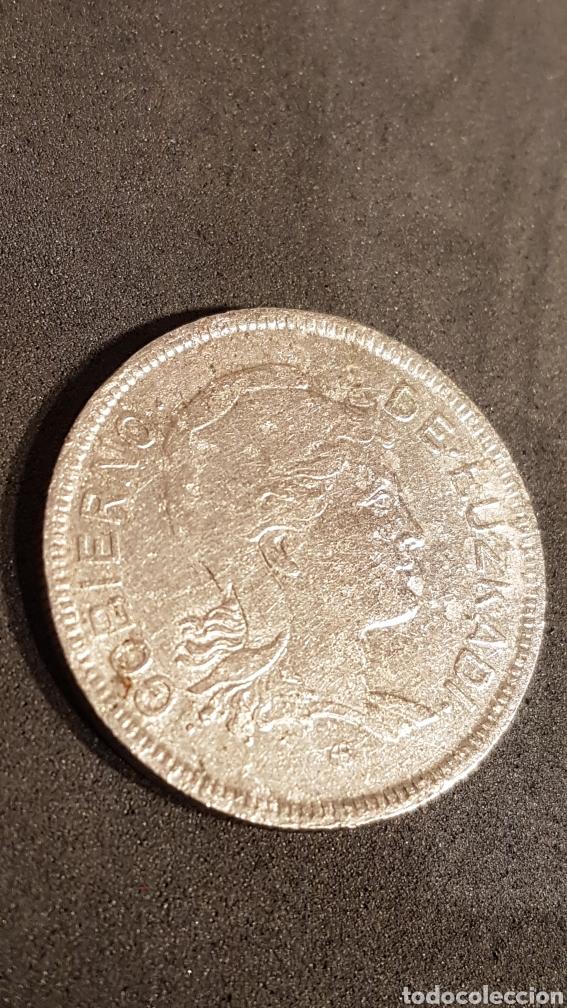MONEDA DE 2 PESETAS DE GOBIERNO DE EUZKADI 1937. (Numismática - España Modernas y Contemporáneas - República)