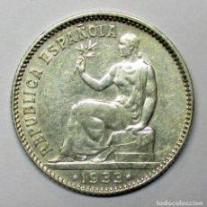 Monedas República: SEGUNDA REPUBLICA ESPAÑOLA 1 PESETA DE PLATA 1933 * 3 - 4. PLATA. LOTE 2926. Lote 206325017