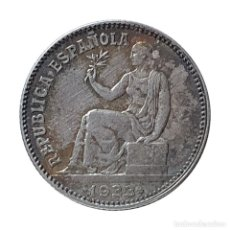Monedas República: REPUBLICA ESPAÑOLA 1 PESETA PLATA 1933 ESTRELLA ANEPIGRAFA Y 4. Lote 206328117