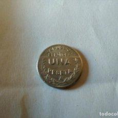 Monedas República: REPUBLICA: 1 PESETA. CONSEJO DE SANTANDER PALENCIA Y BURGOS - 1937. Lote 206359823