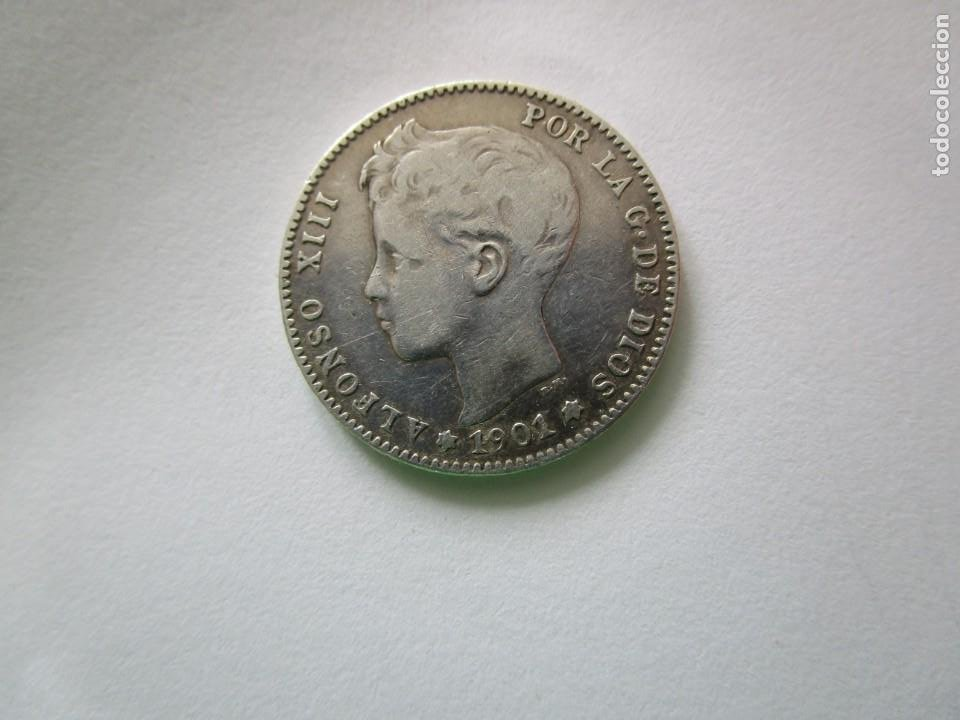ALFONSO XIII . MUY BONITA MONEDA DE 1 PESETA DE PLATA . AÑO 1901 (Numismática - España Modernas y Contemporáneas - República)