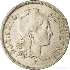 Monedas República: MONEDA, GUERRA CIVIL ESPAÑOLA, EUZKADI, 2 PESETAS, 1937, BRUSSELS, MBC+. Lote 207150621