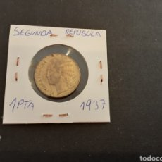 Monedas República: MONEDA 1 PESETA 1937 SEGUNDA REPÚBLICA ESPAÑOLA. Lote 207299971