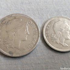 Monedas República: LOTE MONEDAS DOS Y UNA PESETAS DEL GOBIERNO DE EUSKADI. Lote 207766932