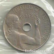 Monnaies République: MONEDA ESPAÑA. MONEDA 25 CENTIMOS DE 1934. ENCARTONADA. REPUBLICA. Lote 209323800