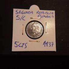 Monedas República: MONEDA 5 CENTIMOS 1937 SEGUNDA REPÚBLICA ESPAÑOLA S/C. Lote 209802928