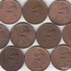 Monedas República: LOTE: II REPUBLICA: 50 CENTIMOS 1937 ( 10 MONEDAS ). Lote 209918765