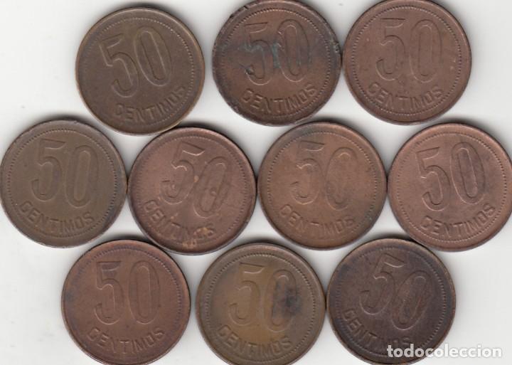 Monedas República: 10 MONEDAS: II REPUBLICA: 50 CENTIMOS 1937 ESTRELLA 3-4 - Foto 2 - 209924006
