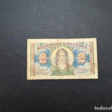 Monedas República: BILLETE DE 2 PESETAS DE LA REPUBLICA DEL AÑO 1938.ORIGINAL% EN ACEPTABLE ESTADO!. Lote 210691632