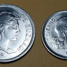 Monedas República: EUZKADI 1937 * 2 Y 1 PESETA. Lote 210701014