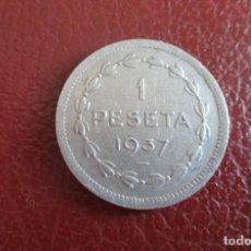 Monedas República: ESPAÑA , 1 PESETA DE EUZKADI 1937. Lote 210942150