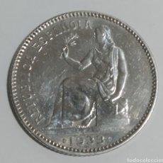 Monedas República: II REPÚBLICA * 1 PTA. PLATA 1933 * 3 - 4. Lote 211508357