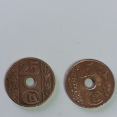 Monedas República: DOS MONEDAS DE 25 CÉNTIMOS DE LA REPÚBLICA AÑO 1938. Lote 211828692