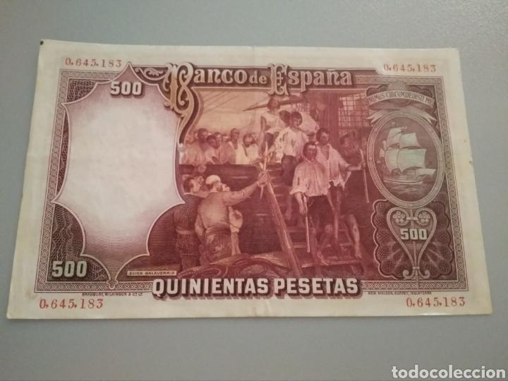 Monedas República: 500 pesetas 1931. Juan Sebastián Elcano. - Foto 2 - 211987108