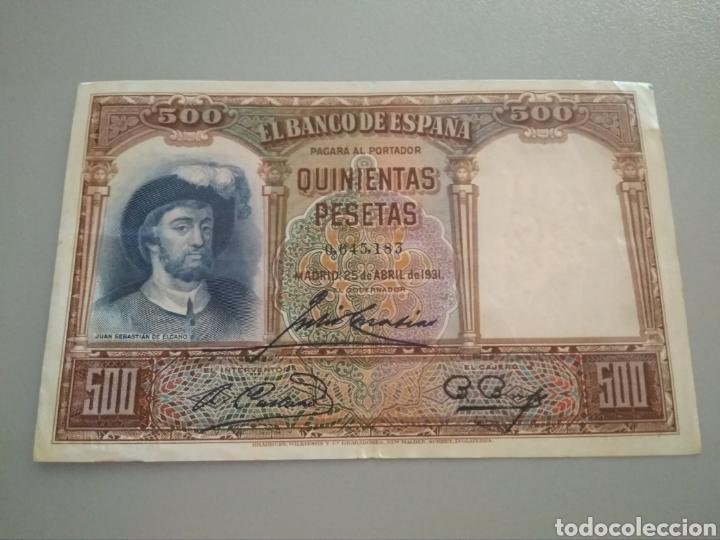 500 PESETAS 1931. JUAN SEBASTIÁN ELCANO. (Numismática - España Modernas y Contemporáneas - República)
