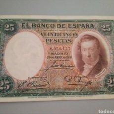 Monedas República: BILLETE DE 25 PESETAS DE 1931. VICENTE LÓPEZ. SIN SERIE.. Lote 211989255