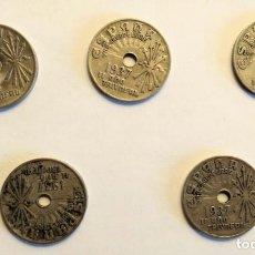 Monedas República: LOTE 5 MONEDAS 25 CÉNTIMOS REPÚBLICA, 1937. Lote 212938637