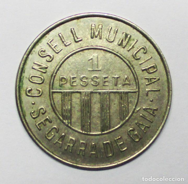 CONSEJO MUNICIPAL DE SEGARRA DE GAIA (TARRAGONA). GUERRA CIVIL ESPAÑOLA 1 PESETA. NIQUEL. LOTE 3325 (Numismática - España Modernas y Contemporáneas - República)