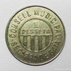 Monedas República: CONSEJO MUNICIPAL DE SEGARRA DE GAIA (TARRAGONA). GUERRA CIVIL ESPAÑOLA 1 PESETA. NIQUEL. LOTE 3325. Lote 213183032
