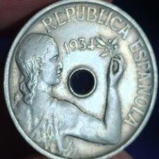Monedas República: 25 CÉNTIMOS 1934. Lote 214006796