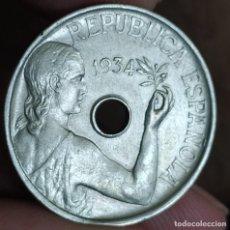 Monedas República: 25 CÉNTIMOS 1934 (EBC-). Lote 214007368