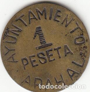AYUNTAMIENTO ARAHAL: MONEDA DE 1 PESETA (Numismática - España Modernas y Contemporáneas - República)