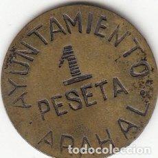 Monedas República: AYUNTAMIENTO ARAHAL: MONEDA DE 1 PESETA. Lote 214291980
