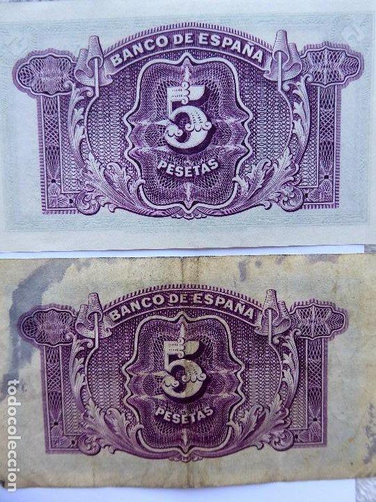 Monedas República: BILL-139. SEIS BILLETES BANCO DE ESPAÑA. 5 PESETAS. EN BUEN ESTADO, CIRCULADOS. EMISION 1935 - Foto 8 - 215463690