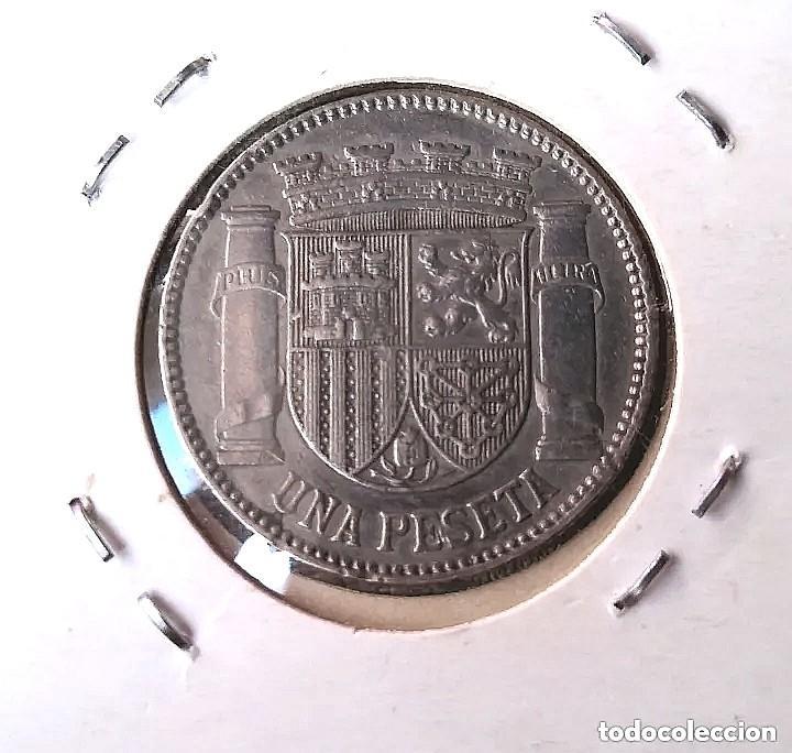 Monedas República: Antigua moneda una peseta de plata de ley 925 mm año 1933 - Foto 2 - 243953300