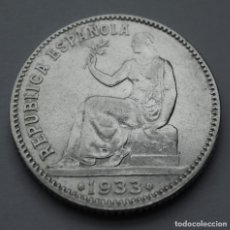 Monedas República: II REPÚBLICA ESPAÑOLA, 1 PESETA, ESTRELLAS 3-4 (PLATA). Lote 216817255