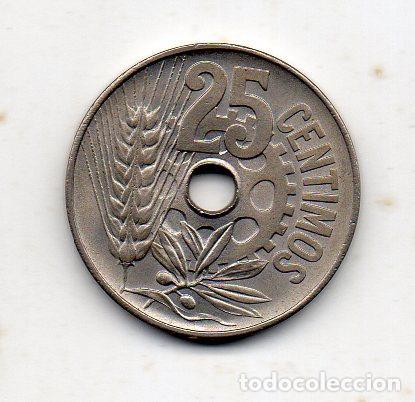 REPÚBLICA ESPAÑOLA. 25 CÉNTIMOS. AÑO 1934. SIN CIRCULAR. (Numismática - España Modernas y Contemporáneas - República)