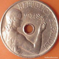 Monedas República: 25 CÈNTIMOS 1934. Lote 216512777