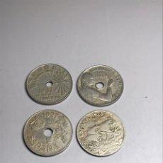 Monedas República: LOTE 4 MONEDAS 25 CENTIMOS 1925 1927 1934 1937. Lote 217541975