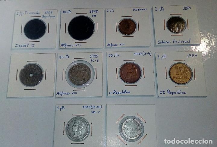 LOTE DE 10 MONEDAS ANTIGUAS (Numismática - España Modernas y Contemporáneas - República)