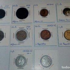Monedas República: LOTE DE 10 MONEDAS ANTIGUAS. Lote 218235520
