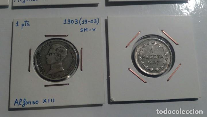 Monedas República: LOTE DE 10 MONEDAS ANTIGUAS - Foto 10 - 218235520