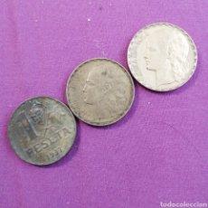Monedas República: TRES PESETAS DE REPÚBLICA ESPAÑOLA DIFERENTES CALIDADES. Lote 218489968
