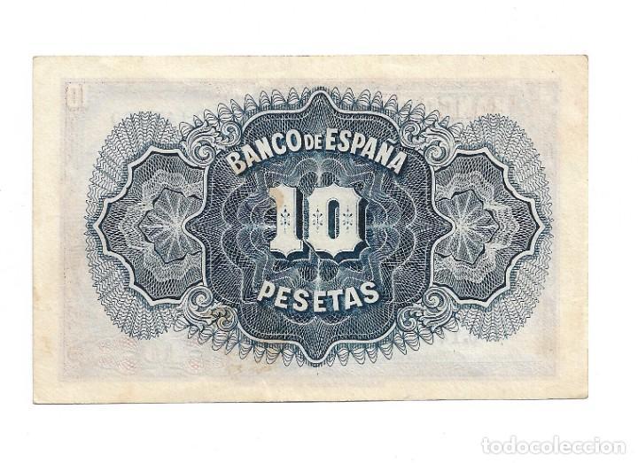Monedas República: 10 PESETAS REPUBLICA . SIN CIRCULAR. SIN SERIE . NUMERO MUY BAJO - Foto 2 - 218492001