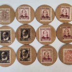Monedas República: COLECCION DE 22 CARTONES MONEDA. SEGUNDA REPUBLICA ESPAÑOLA. 1931/1939.. Lote 218572386