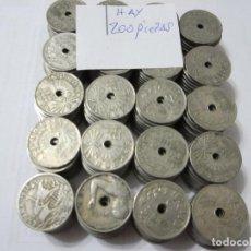 Monedas República: LOTE DE 200 MONEDAS DE 25 CÉNTIMOS DE ALFONSO XIII 1925 Y 1927, REPUBLICA 1934 Y E. ESPAÑOL 1937. Lote 219286188