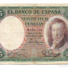 Monedas República: 25 PESETAS, 1931. VICENTE LÓPEZ. Lote 219458790