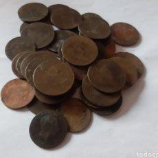 Monedas República: LOTE DE 43 MONEDAS ANTIGUAS DE COBRE DE 5. Lote 220276582