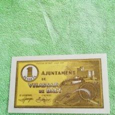 Monedas República: UNA PESETA DE VILASSAR DE DALT DE JUNIO DE 1937. SIN CIRCULAR.. Lote 220491855