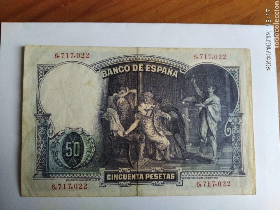 Monedas República: Billete de 50 pesetas de 1931. Sin serie - Foto 2 - 220761992