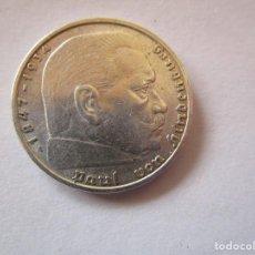 Monedas República: ALEMANIA . 2 MARCOS DE PLATA MUY ANTIGUOS . AÑO 1937 . CALIDAD MAGNIFICA. Lote 220809488