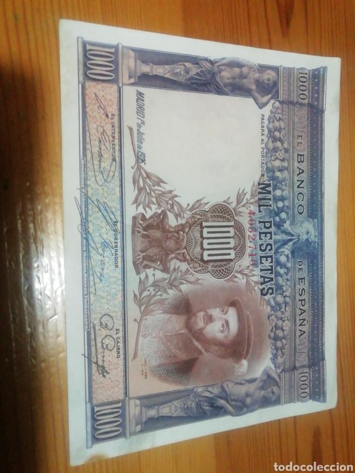 Monedas República: Billete de 1000 pesetas de 1925. Muy bien conservado - Foto 2 - 221841305