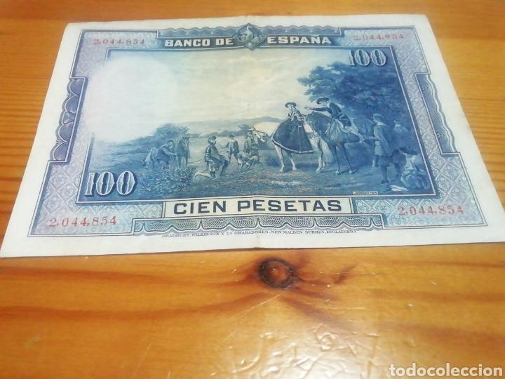 Monedas República: Billete de 100 pesetas de 1928. Muy bueno - Foto 2 - 221842053