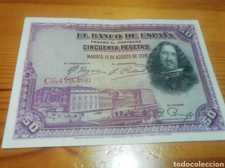 BILLETE DE 50 PESETAS DE 1928 IMPECABLE (Numismática - España Modernas y Contemporáneas - República)