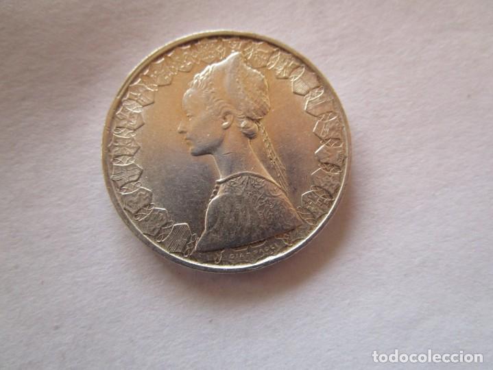 ITALIA . 500 LIRAS DE PLATA ANTIGUAS . AÑO 1969. SIN CIRCULAR (Numismática - España Modernas y Contemporáneas - República)