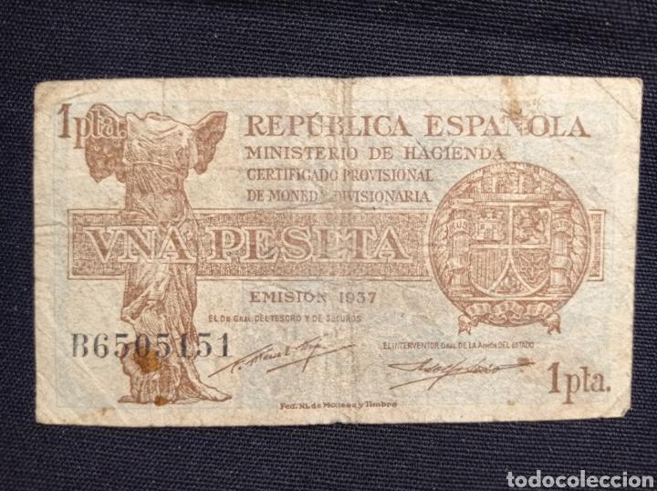BILLETE DE UNA PASETA DE LA REPÚBLICA ESTA MUY DESGASTADO VER FOTOS LEER DESCRIPCION (Numismática - España Modernas y Contemporáneas - República)